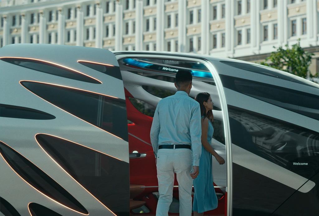 Mercedes-Benz presenta un concepto de automóvil que se convierte en una Van - van4