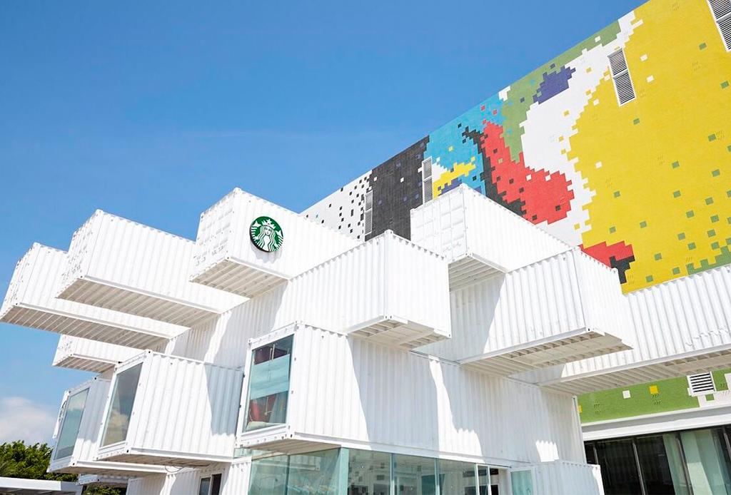El Starbucks más sustentable en el mundo está hecho de contenedores - starbuckstaiwan1
