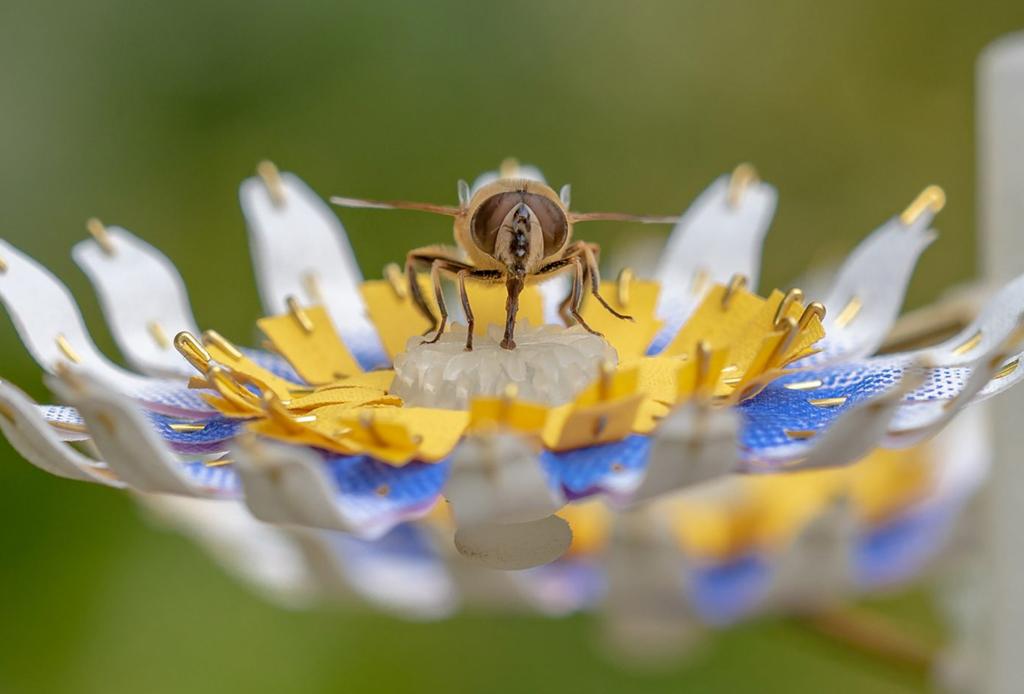 Ya existen las primeras flores artificiales para alimentar insectos en las grandes ciudades