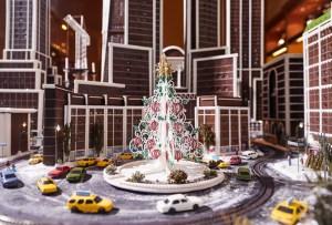 Hay una réplica de la ciudad de Nueva York ¡hecha con gingerbread!