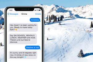 ¡Atención amantes del esquí! Presentamos Emma: la primer asistente digital de montaña del mundo