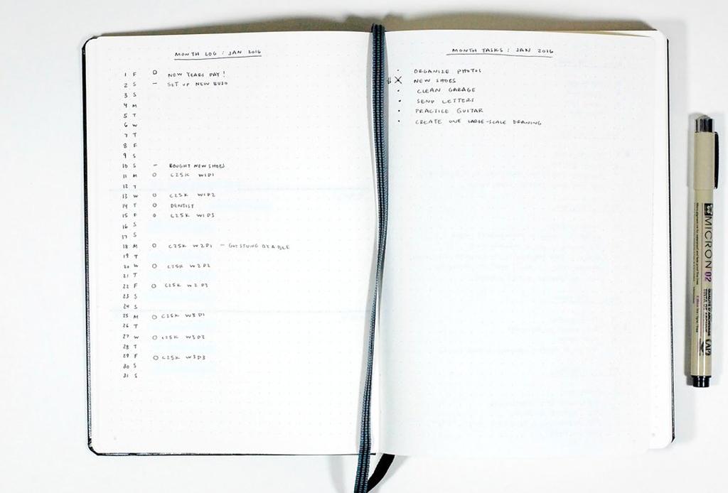 'Bullet journaling' es la nueva técnica para organizarte y trabajar mejor - bullet-journal-4