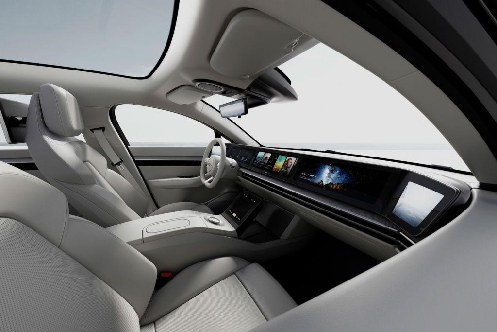Sony revela durante el CES 2020, el Vision-S, su primer auto eléctrico - interior-vision-s