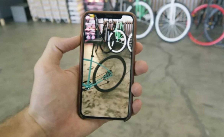 Apple te permitirá comprar en realidad aumentada - bicicleta-apple-quick-look