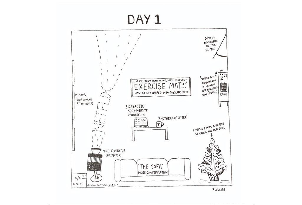 Esto es lo que pasó cuando un artista de mapas estuvo en cuarentena - gareth-fuller-2
