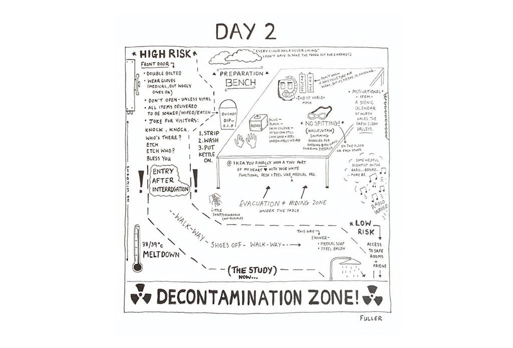 Esto es lo que pasó cuando un artista de mapas estuvo en cuarentena - gareth-fuller-3