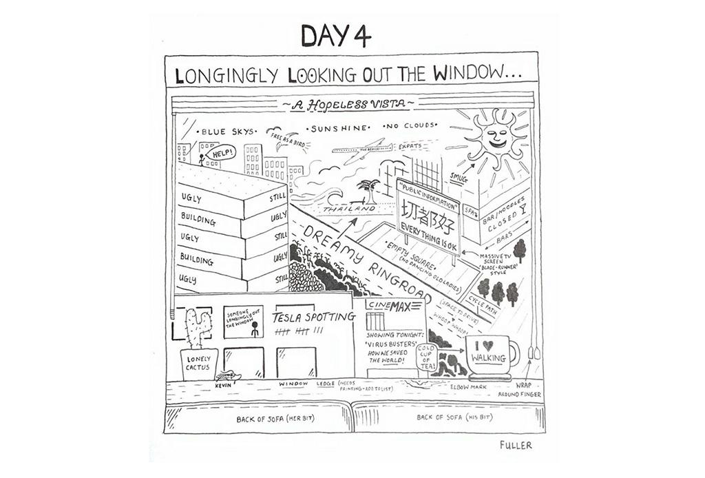 Esto es lo que pasó cuando un artista de mapas estuvo en cuarentena - gareth-fuller-5