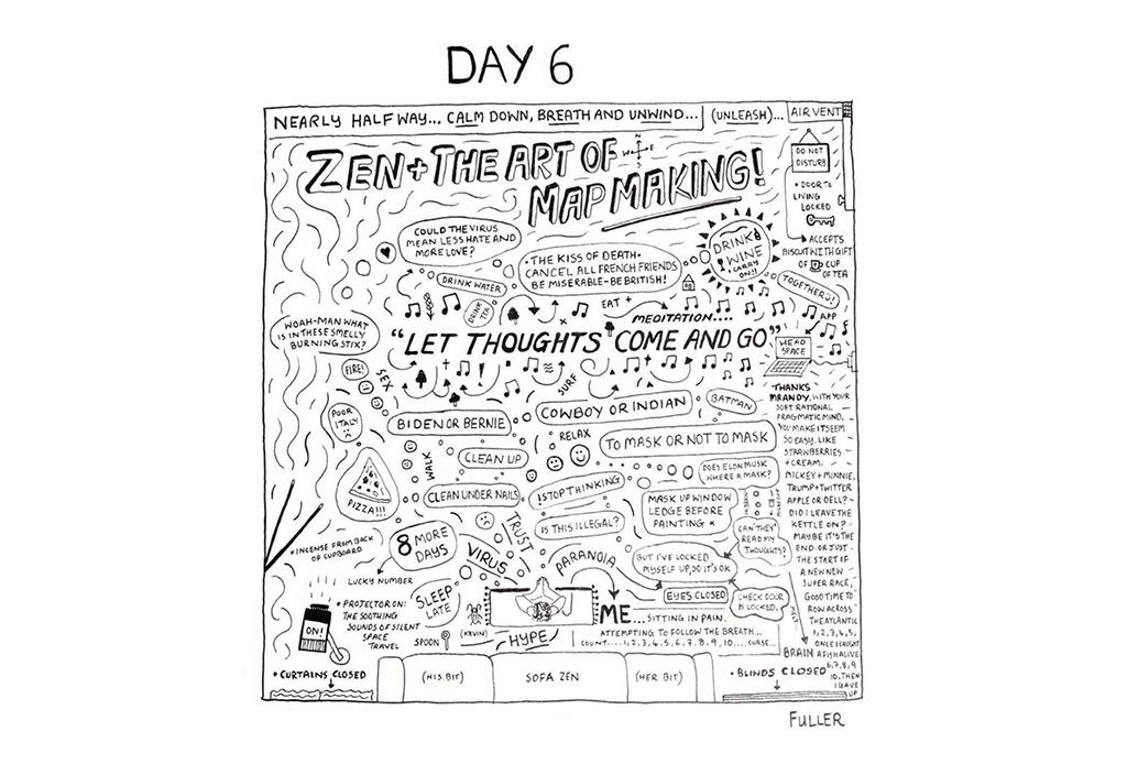 Esto es lo que pasó cuando un artista de mapas estuvo en cuarentena - gareth-fuller-7