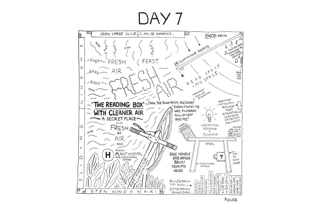 Esto es lo que pasó cuando un artista de mapas estuvo en cuarentena - gareth-fuller-8