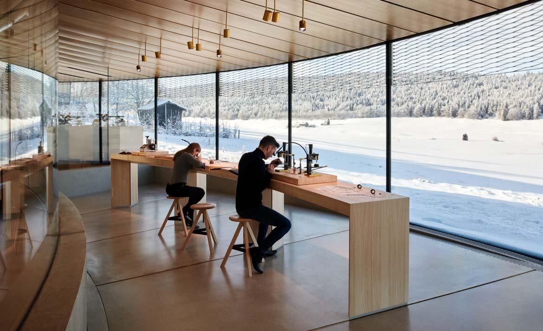 Conoce el vanguardista museo de Audemars Piguet en Suiza - musee-atelier