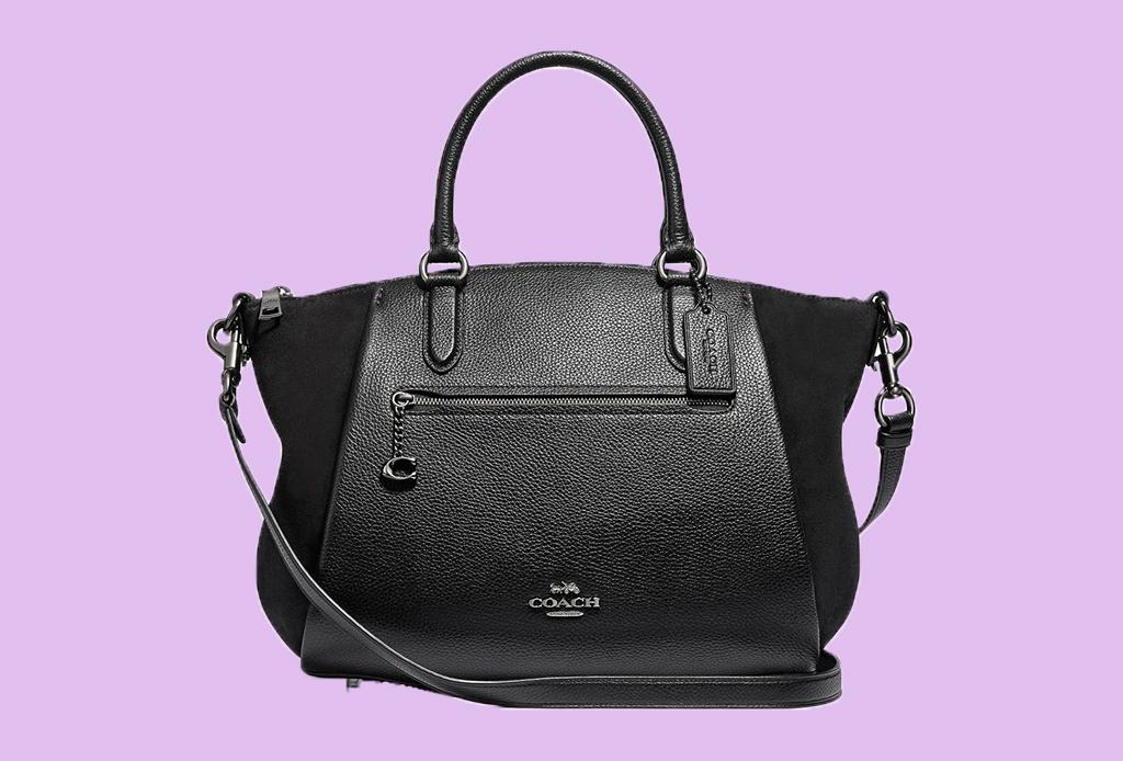 6 estilos de bolsa que debes comprar esta temporada - bolsa-coach-negra-satchel-liverpool