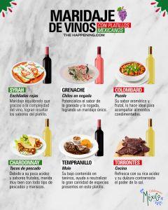 Maridaje de vinos con platillos mexicanos