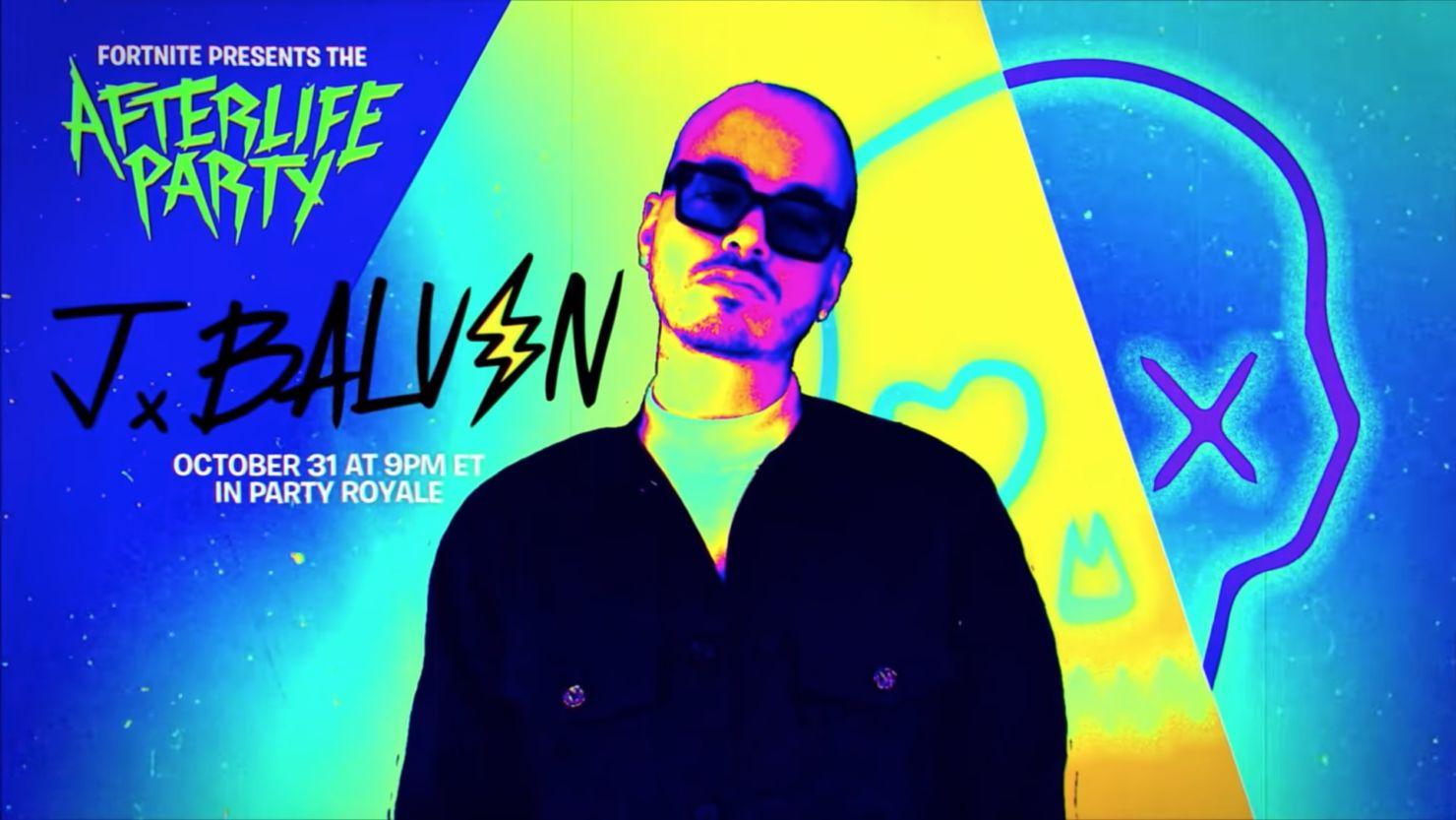 J Balvin dará un concierto virtual para Fortnite este Halloween