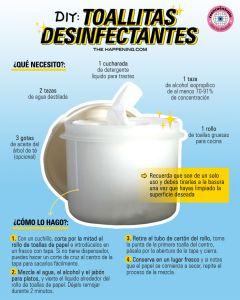 DIY: Toallitas desinfectantes