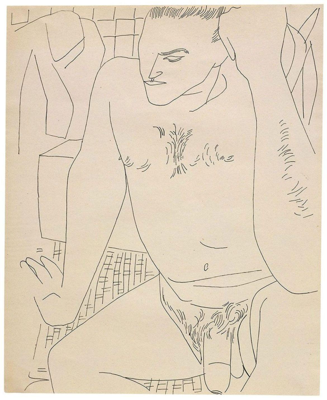 Las obras eróticas de Andy Warhol que tal vez no conocías - andy-warhol-dibujos-desnudo