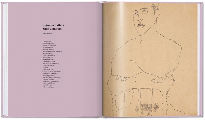 Las obras eróticas de Andy Warhol que tal vez no conocías - andy-warhol-dibujos-hombre-sentado