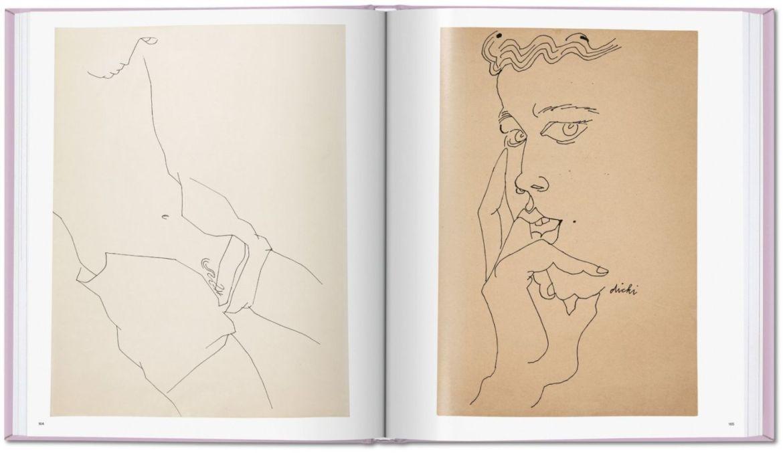 Las obras eróticas de Andy Warhol que tal vez no conocías - andy-warhol-dibujos-libro