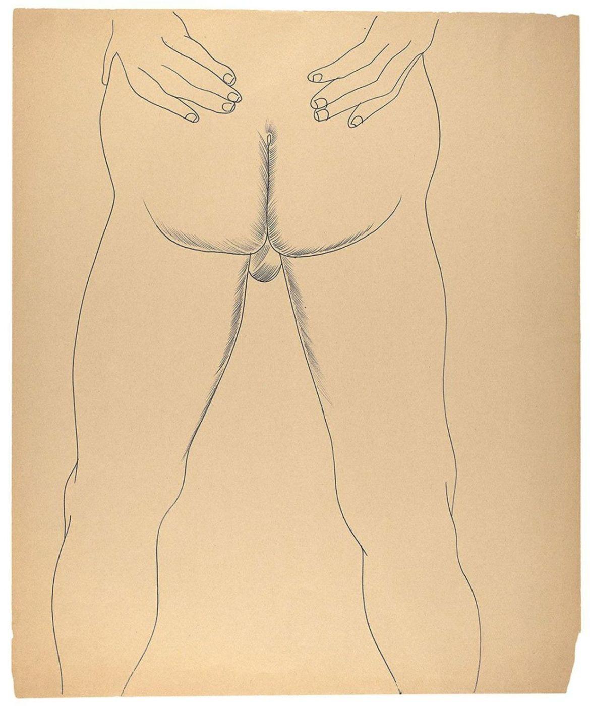 Las obras eróticas de Andy Warhol que tal vez no conocías - andy-warhol-dibujos-piernas