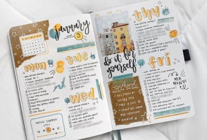Organízate y haz tu bullet journal más cool con estas ideas