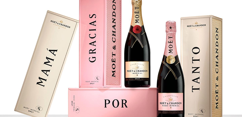 Este regalo personalizado de Moët & Chandon es perfecto para celebrar a mamá