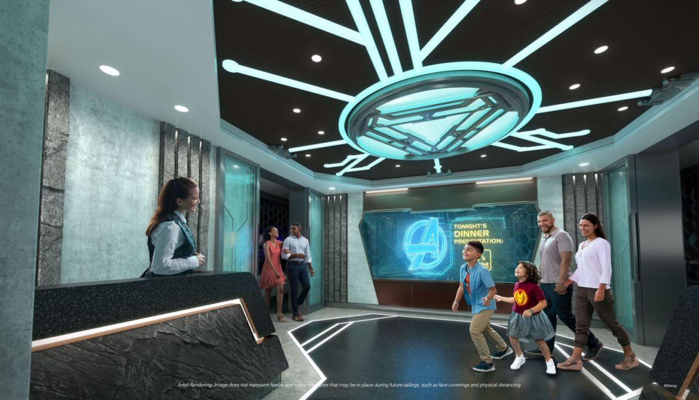Así es Disney Wish, el nuevo y más avanzado crucero de Disney - disney-wish-family-dining-worlds-of-marvel