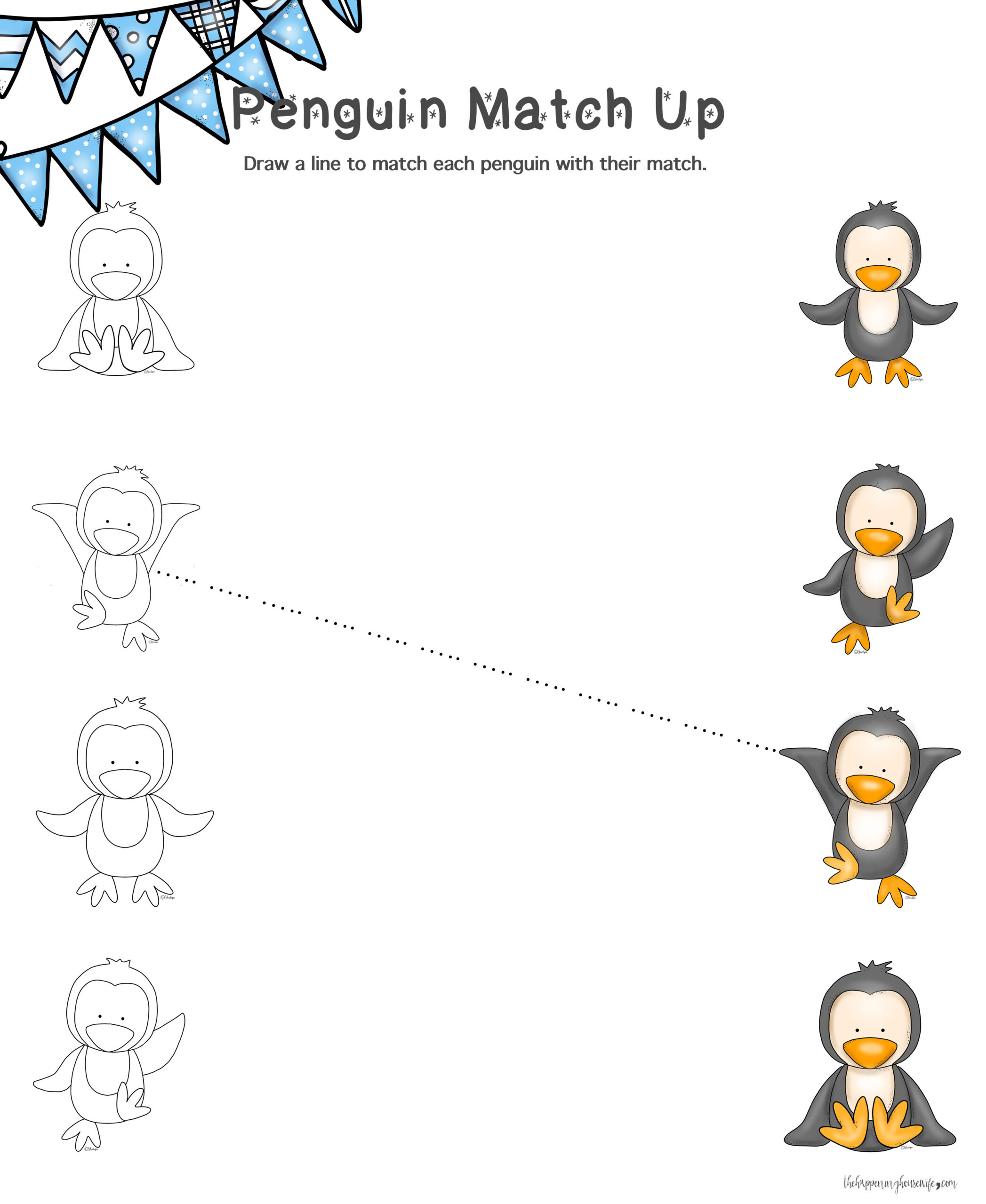 Free Penguin Worksheet Kindergarten