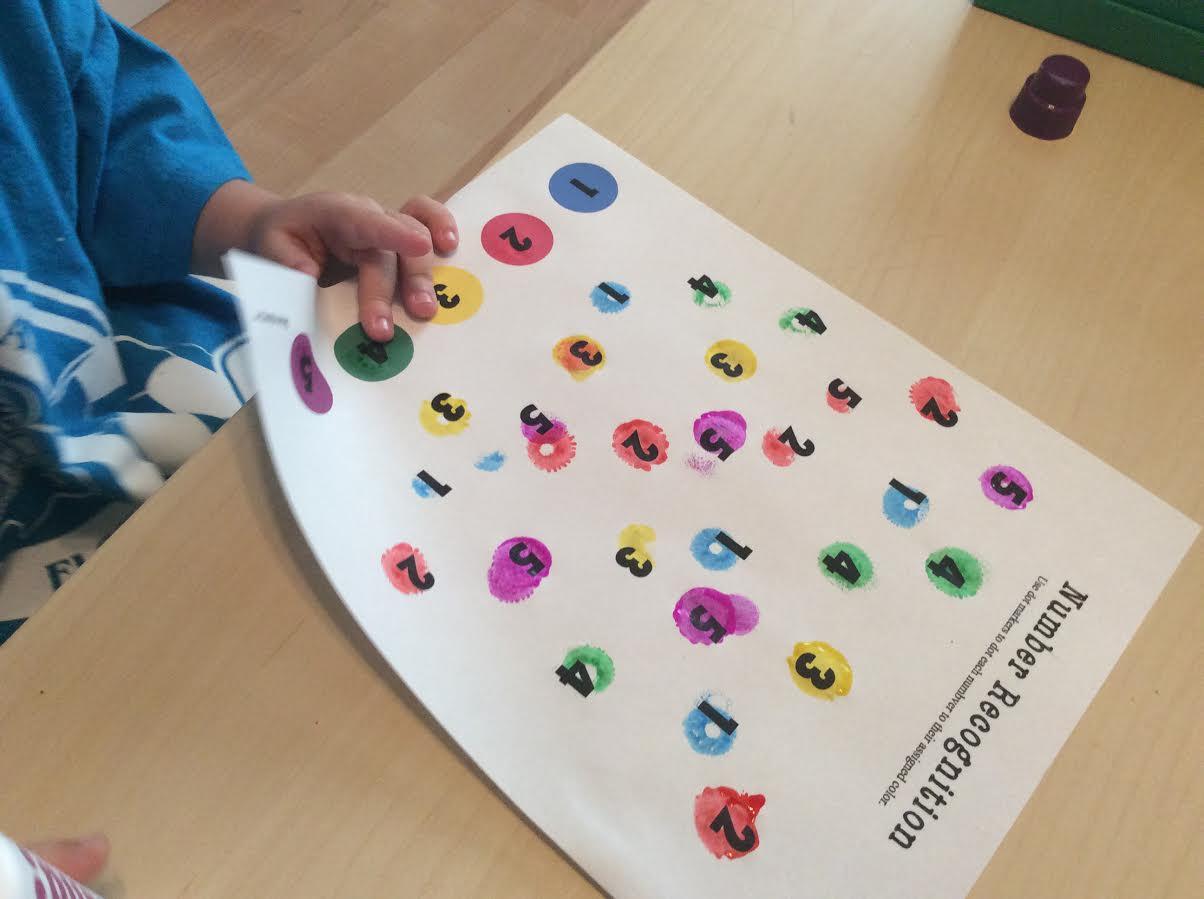 Dot Marker Numbers 1-5 Worksheet