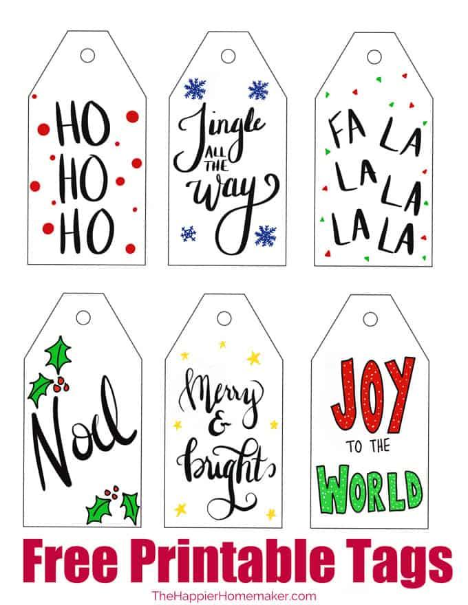 Free Printable Christmas Gift Tags The Happier Homemaker
