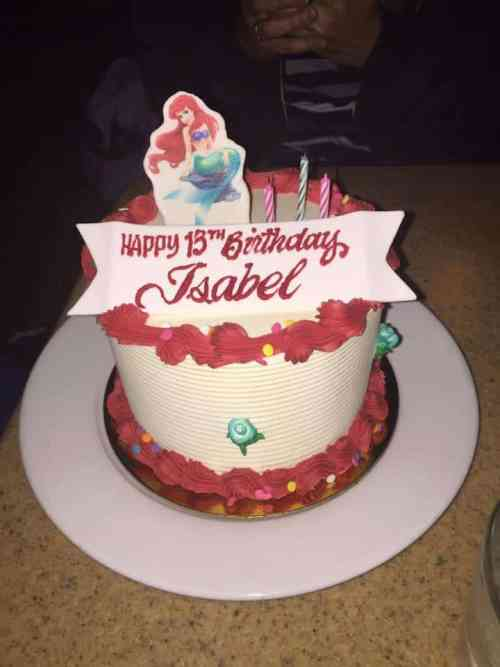 Disneyland Resort special order birthday cake. Photo credit: Nikki Lawrence