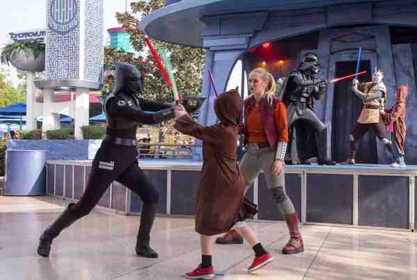 "The reimagined battle experience ""Jedi Training: Trials of the Temple"". (Paul Hiffmeyer/Disneyland Resort)"