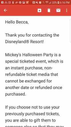 Sell Mickey's HalloweenParty tickets