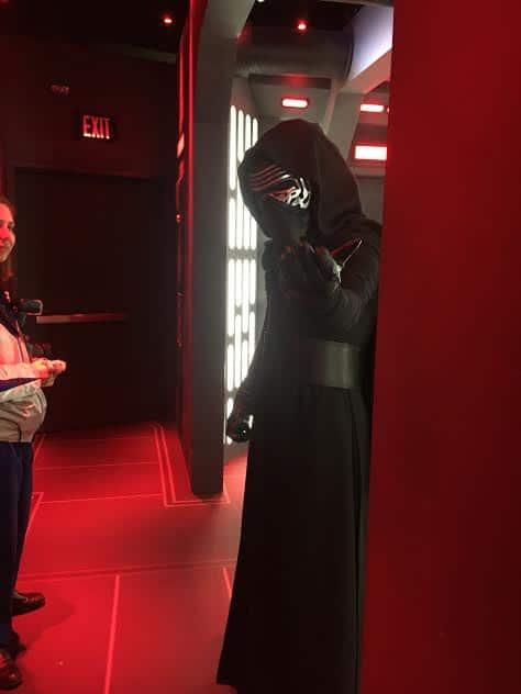 Kylo Ren at Disneyland.