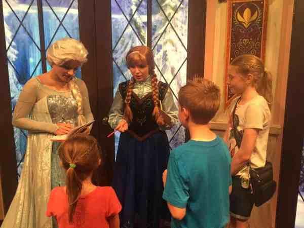 Meet Anna & Elsa at Disneyland Resort's California Adventure.