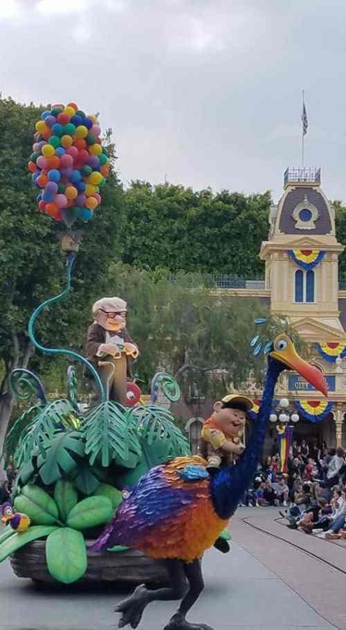 New Up Float in Pixar Play Parade at Disneyland Park