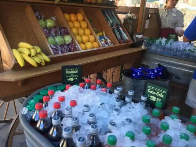 Fresh fruit stands available throughout the Disneyland Resort.