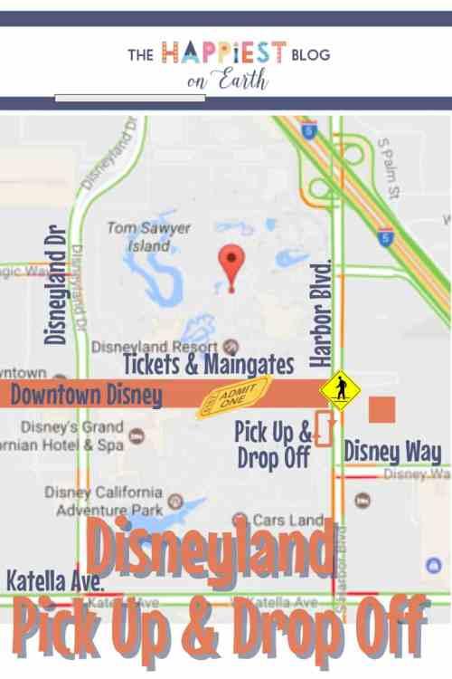 Disneyland Pick Up & Drop Off Area