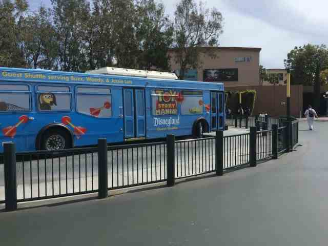 Toy Story Disneyland Parking shuttle