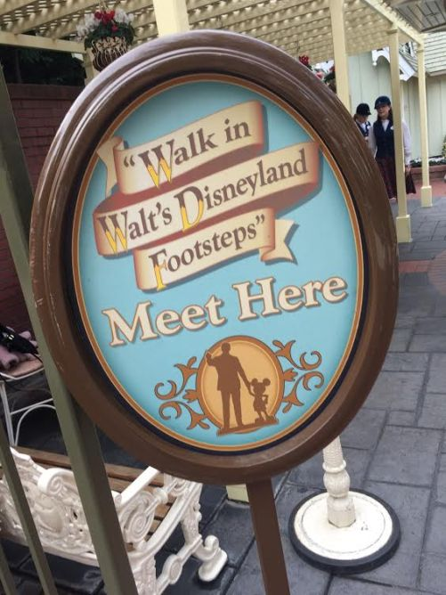 Walk in Walt's Footsteps check in sign