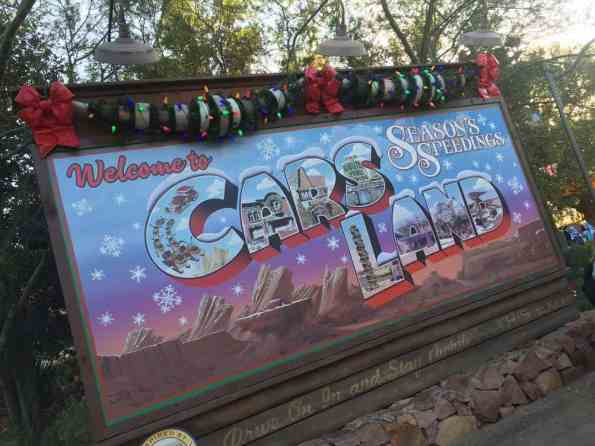Happy Holidays from Cars Land!