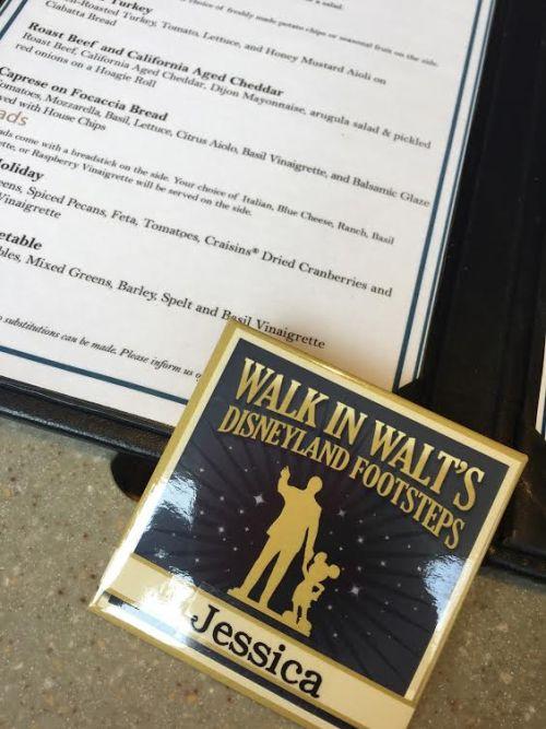 Walk in Walt's Footsteps personalized button.