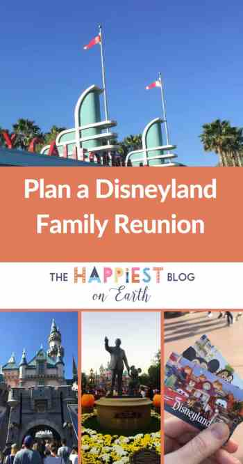 Disneyland plan a reunion for a large group