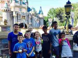 Large groups at Disneyland