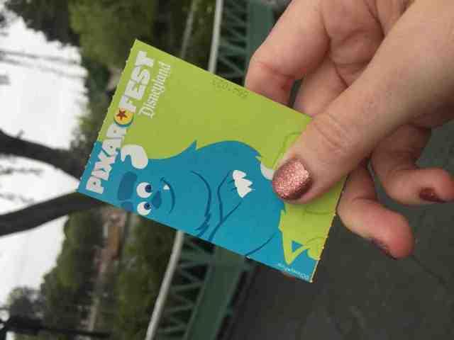 Pixar Fest ticket