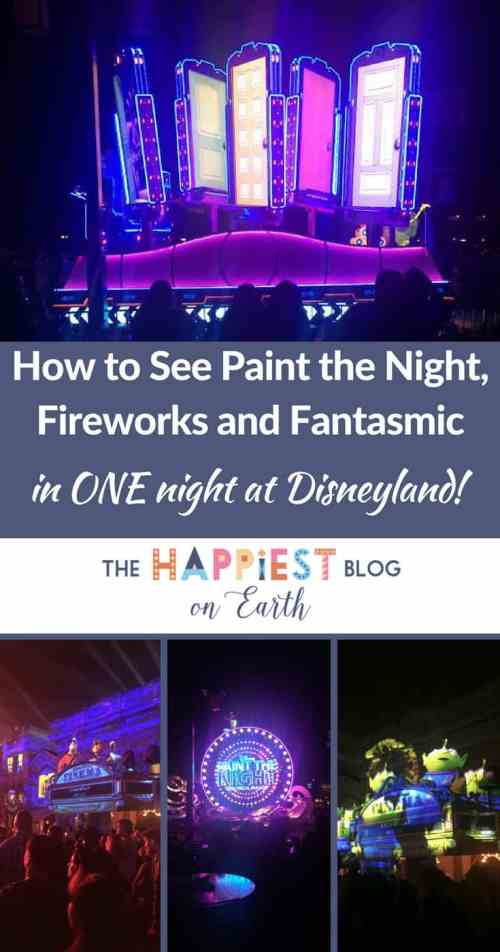 See Paint the Night, Disneyland fireworks and Fantasmic in one night