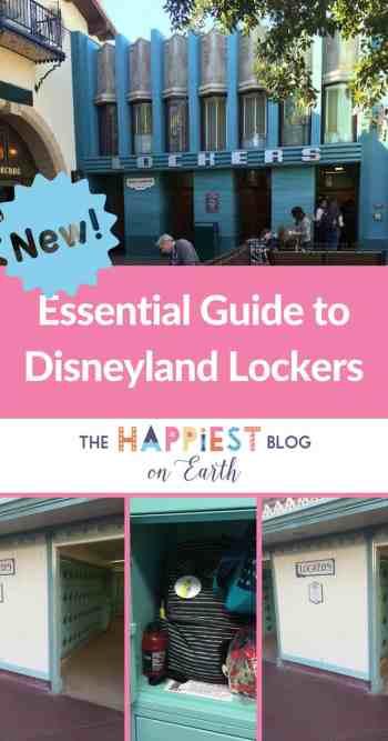 Disneyland Lockers