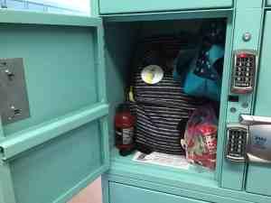 inside Disneyland locker