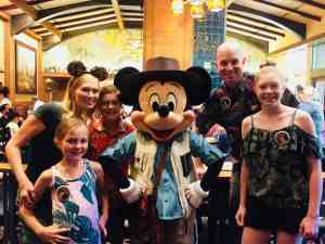 Mickey Mouse Storytellers Cafe Breakfast family