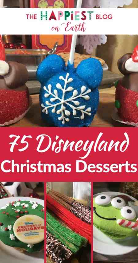 75 Disneyland Holiday Desserts to try this Christmas season. From Disney Festival of Holidays desserts, to Holiday treats around the resort, you must see all the delicious offerings. All the Disneyland holiday treats in one spot.