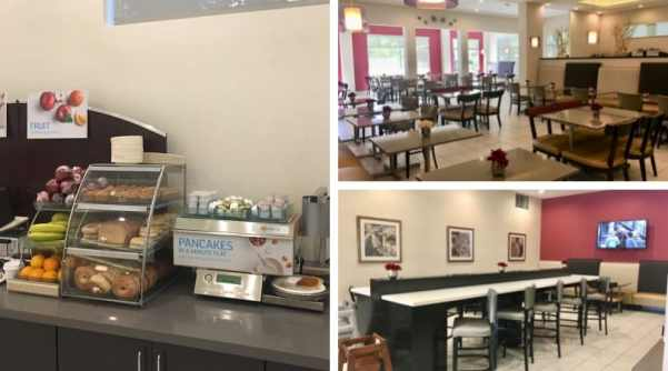 Holiday Inn Express Disneyland breakfast area