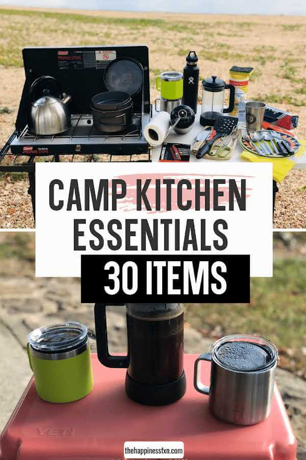 simple camp kitchen items